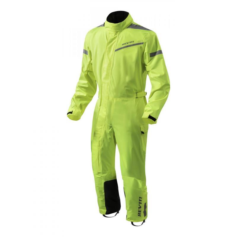Combinaison intégrale textile Rev'it Pacific 2 H2O noir/jaune fluo
