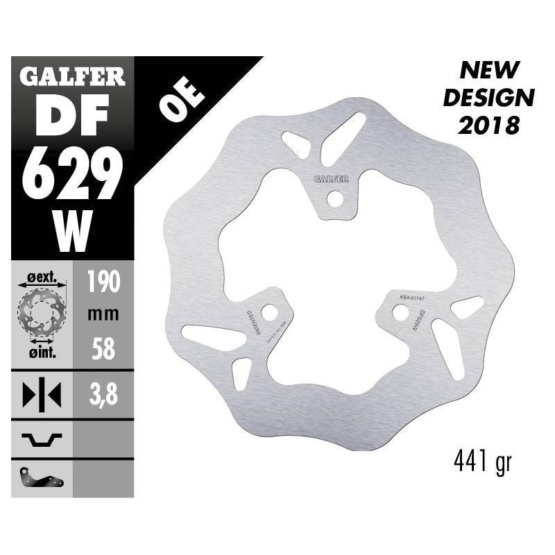 Disque de frein Galfer wave fixe 190x4mm DF629W - 1