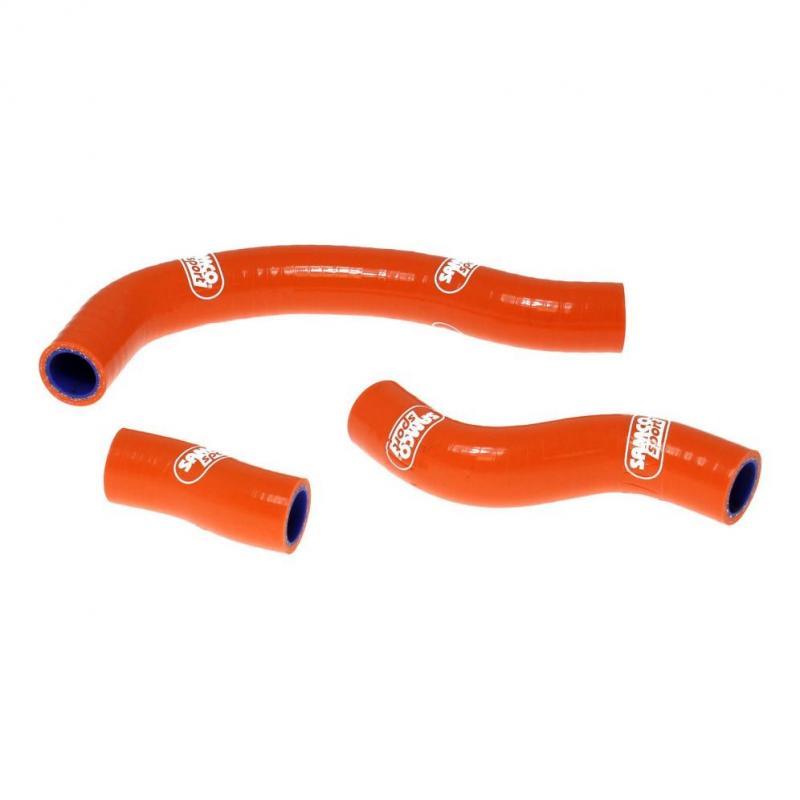 Durites de radiateur Samco Sport type origine KTM 450 SX-F 11-12 orange (3 durites)