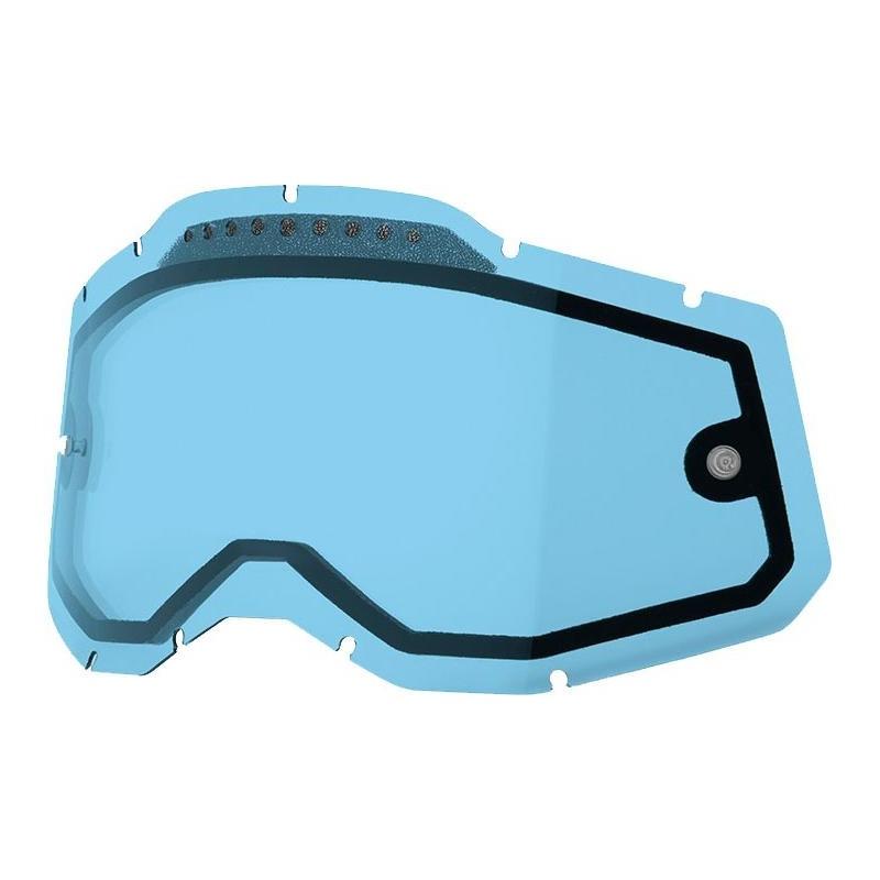 Écran masque cross 100% RC2/AC2/ST2 écran double ventilé bleu