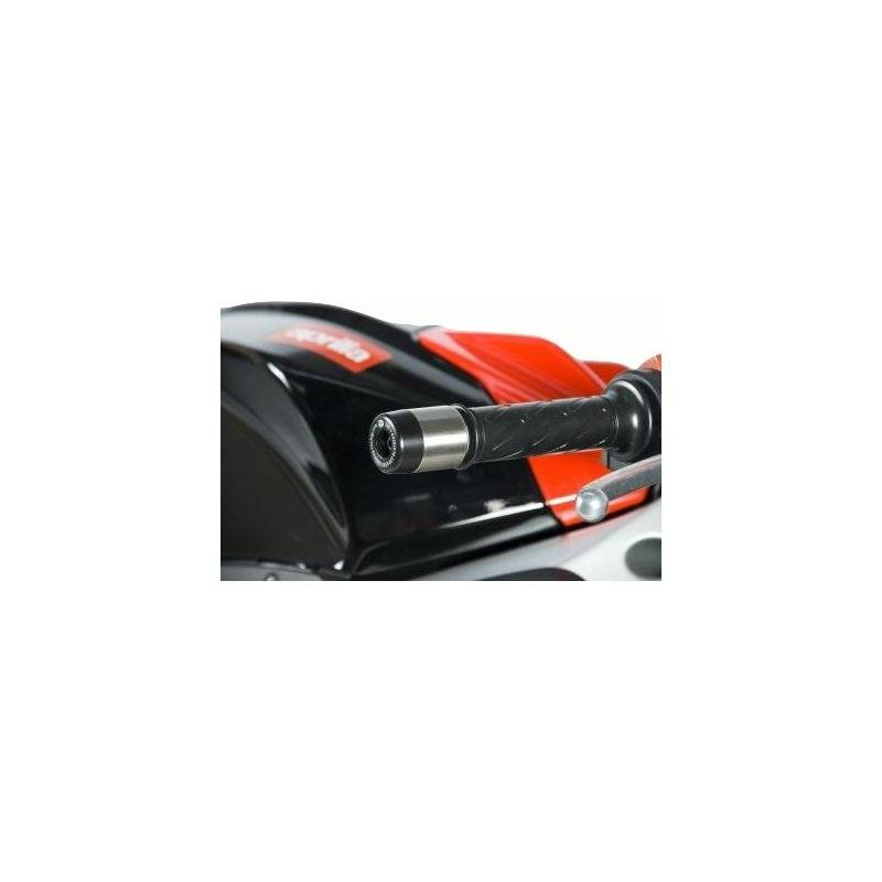 Embouts de guidon R&G Racing noir Aprilia RS4 125 11-16