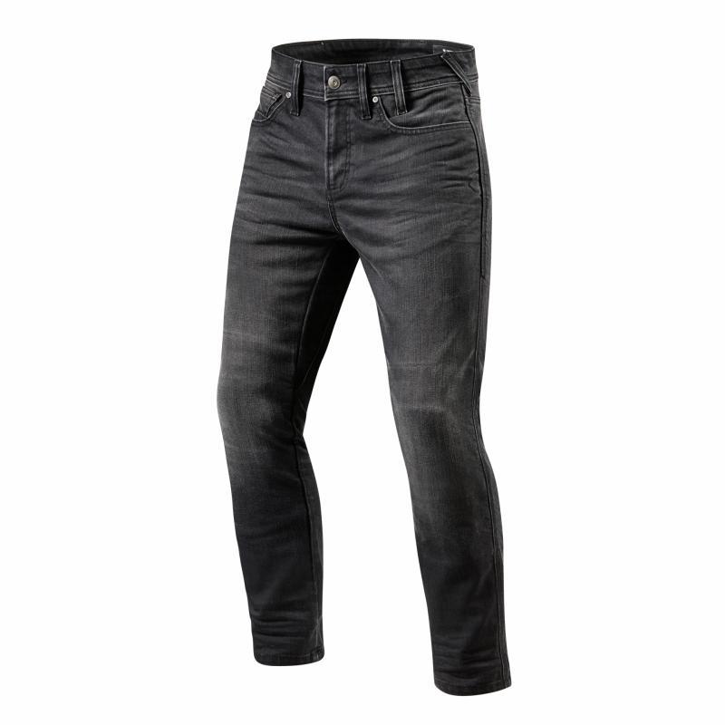 Jeans moto Rev'it Brentwood longueur 36 (long) gris moyen délavé