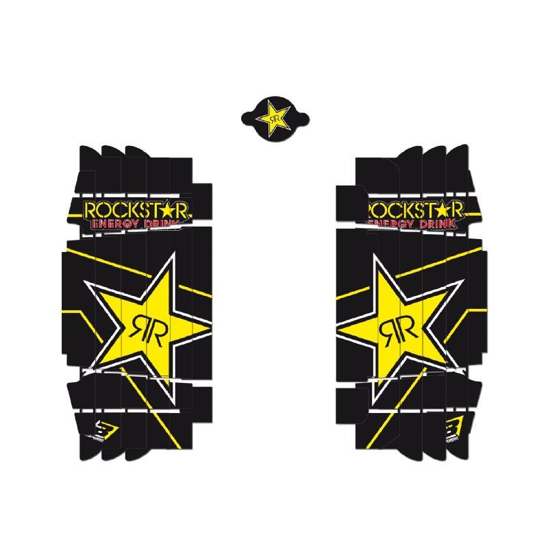 Kit déco de radiateur Blackbird Racing Rockstar Energy Husqvarna 250 TC 16-18 noir/jaune