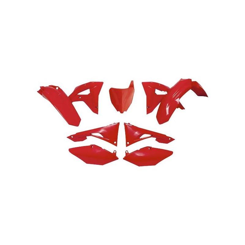 Kit plastique RTech Honda CRF 250RX 19-21 rouge (rouge CR)