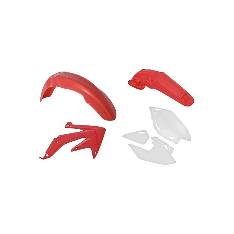 Kit plastique RTech Honda CRF 450RX 05-07 rouge/blanc (couleur OEM 09-19)