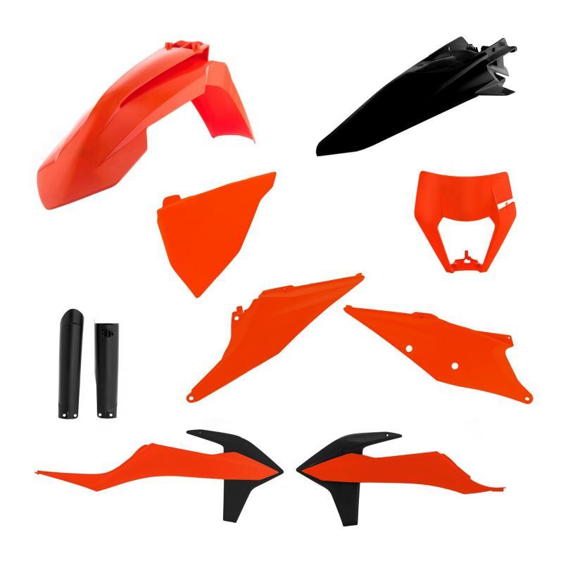 Kit plastiques complet Acerbis KTM EXC 300 TPI 20-21 noir/orange (couleur origine)