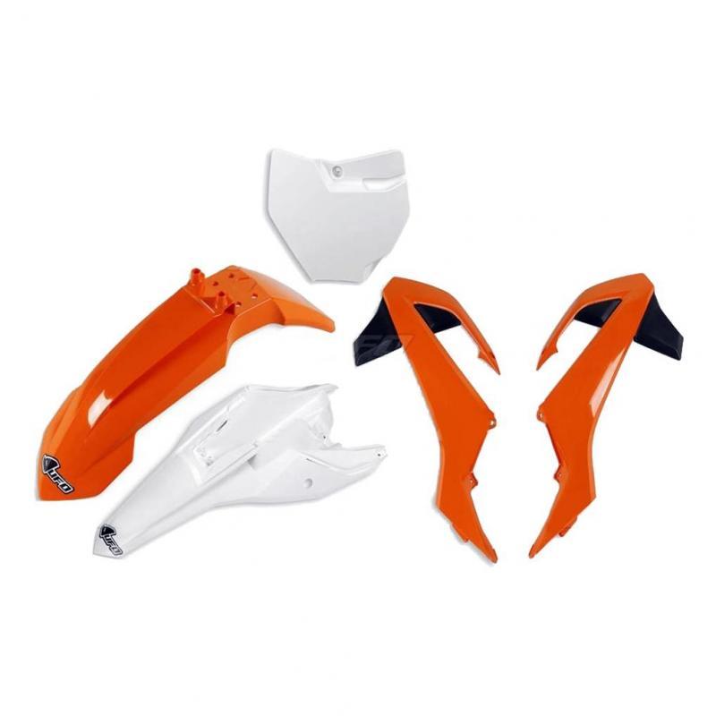 Kit plastiques UFO KTM 65 SX 16-21 orange/blanc (couleur origine 16)