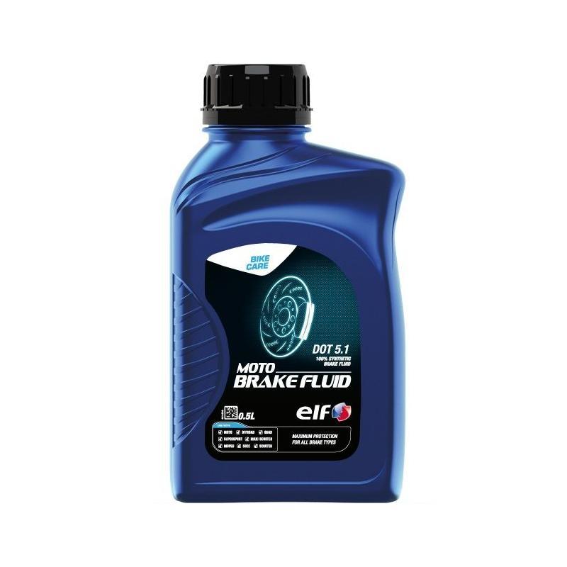 Liquide de freins Moto Brake Fluid DOT 5.1 ELF 100% synthèse