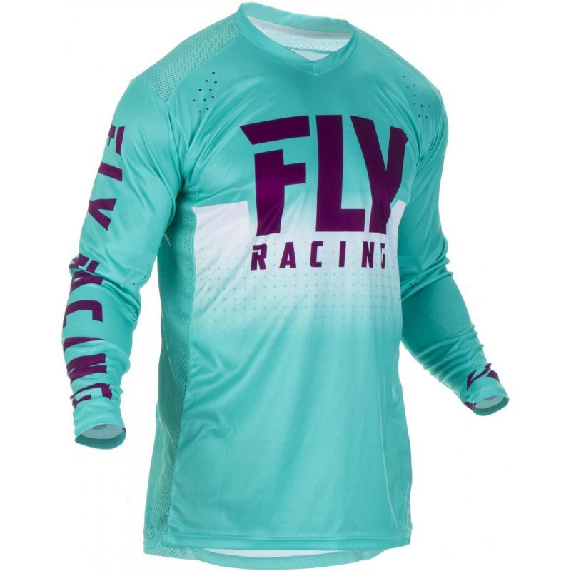 Maillot cross Fly Racing Lite Hydrogen bleu