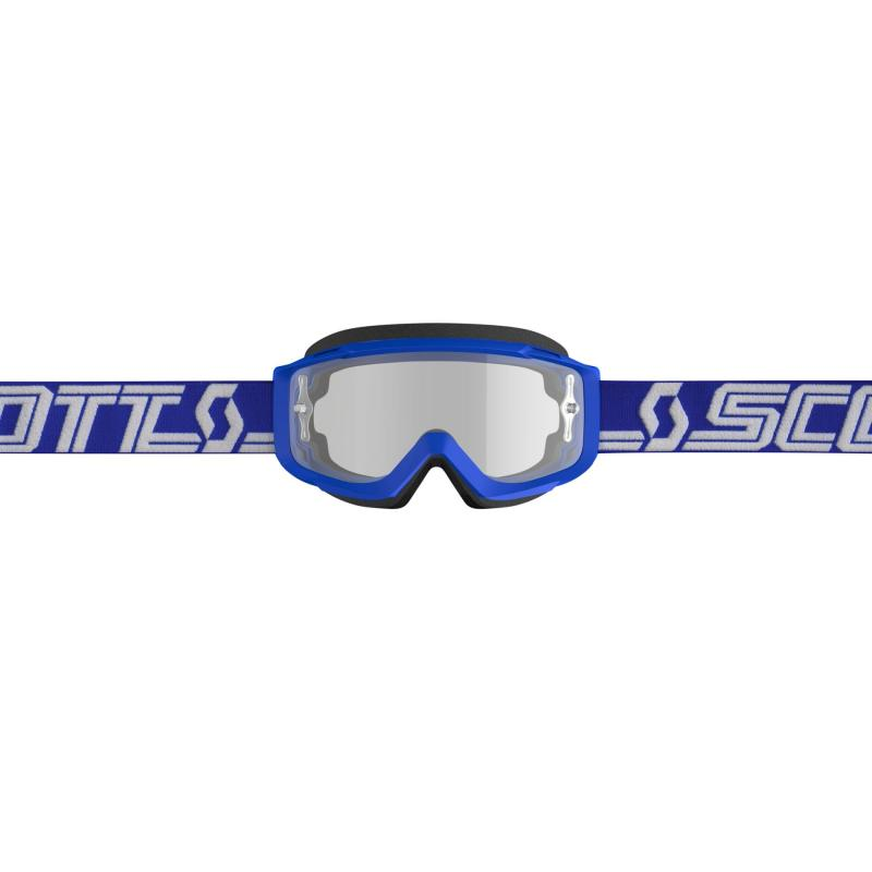 Masque cross Scott Split OTG bleu/blanc – écran clair - 2