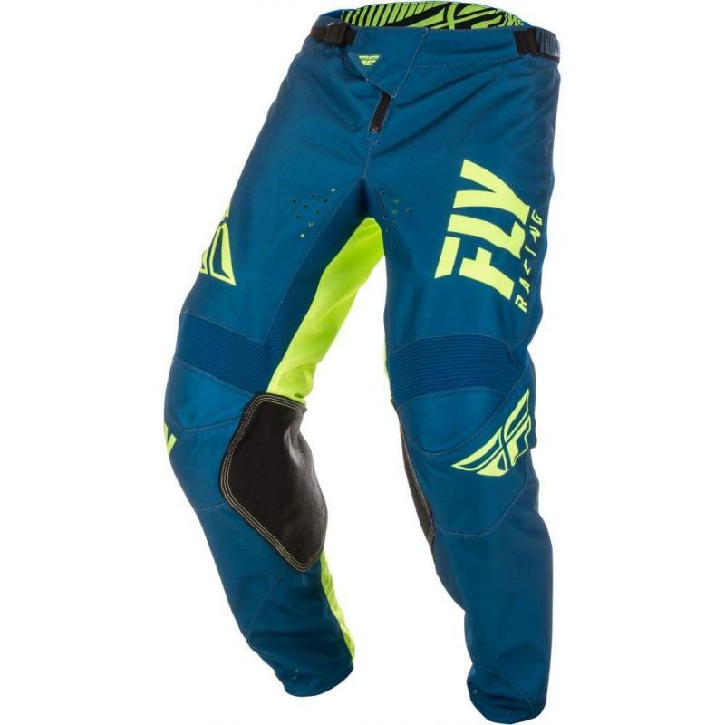 Pantalon cross enfant Fly Racing Kinetic Shield bleu/jaune