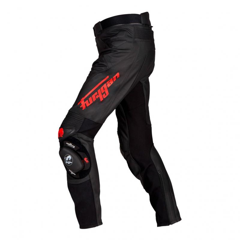 Pantalon cuir Furygan Raptor Evo noir/rouge - 1
