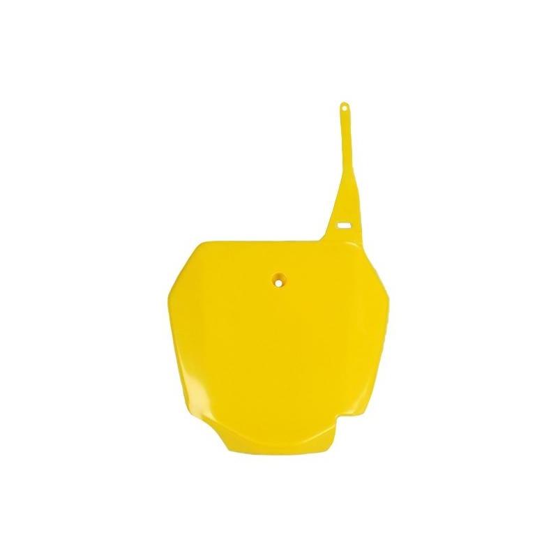 Plaque numéro frontale UFO Suzuki 85 RM 00-17 jaune (jaune RM)