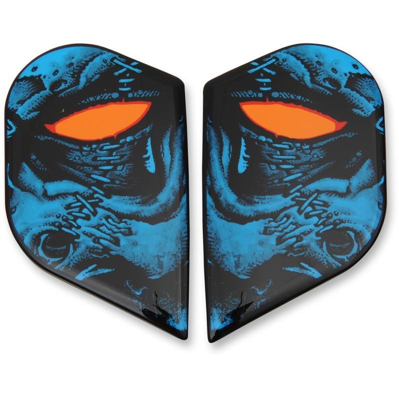 Plaques latérales Icon pour casque Alliance GT Horror bleu