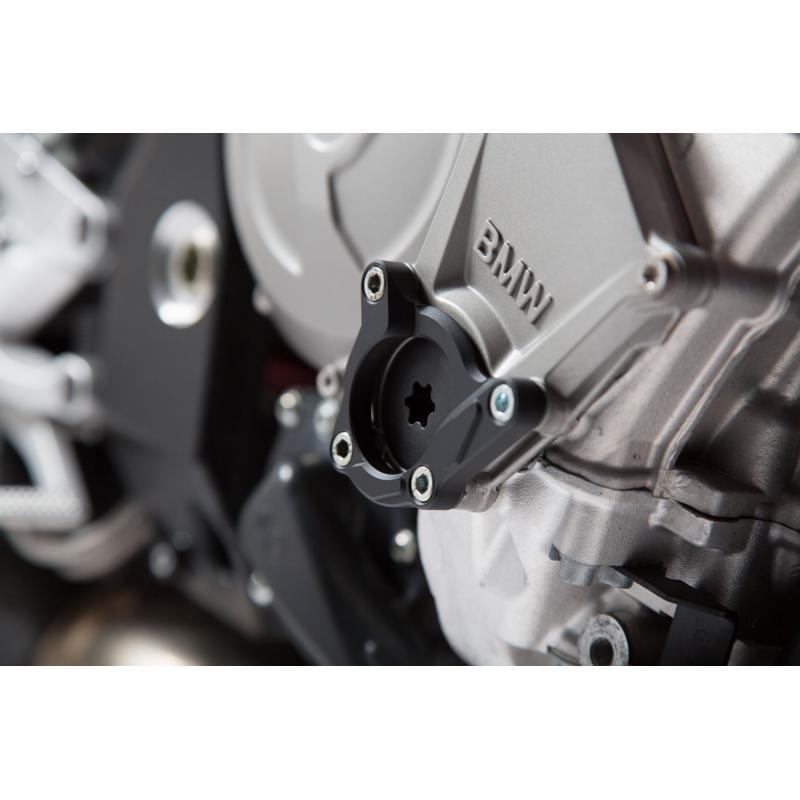 Protection de couvercle de carter moteur SW-MOTECH noir / gris BMW S1000R / RR / XR - 3