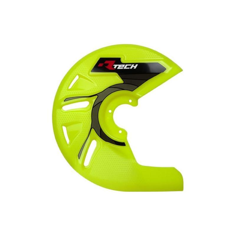 Protection de disque de frein avant RTech jaune fluo