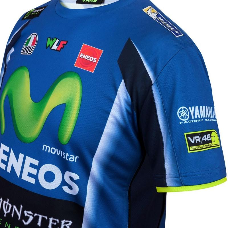 Tee shirt VR46 Valentino Rossi Yamaha Replica bleu 2017 - 2