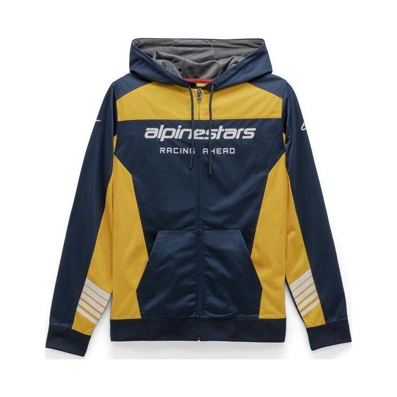 Veste à capuche zippée Alpinestars Sessions II Fleece navy/gold