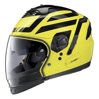 Casque transformable Grex G4.2 Pro Crossroad N-Com Mat Led jaune