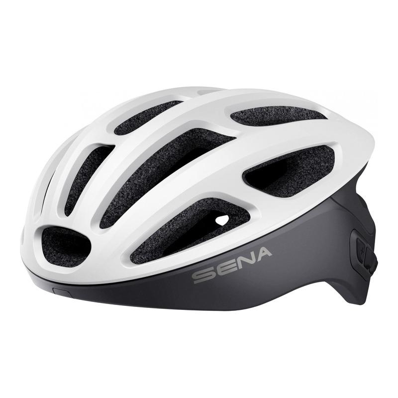 Casque vélo Sena R1 intercom Bluetooth® intégrée blanc mat