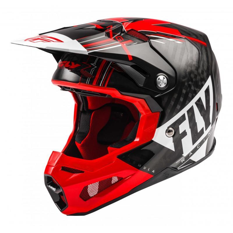 Casque cross Fly Racing Formula Carbon Vector rouge/blanc/noir