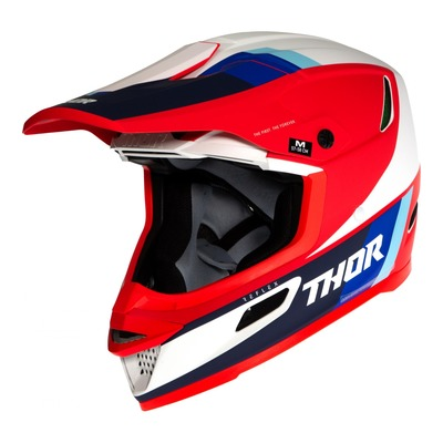 Casque cross Thor Reflex Apex rouge/blanc/bleu mat