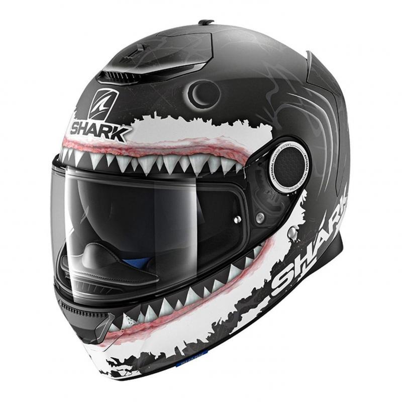 Casque intégral Shark Spartan 1.2 Réplica Lorenzo White Mat noir/blanc/antracite