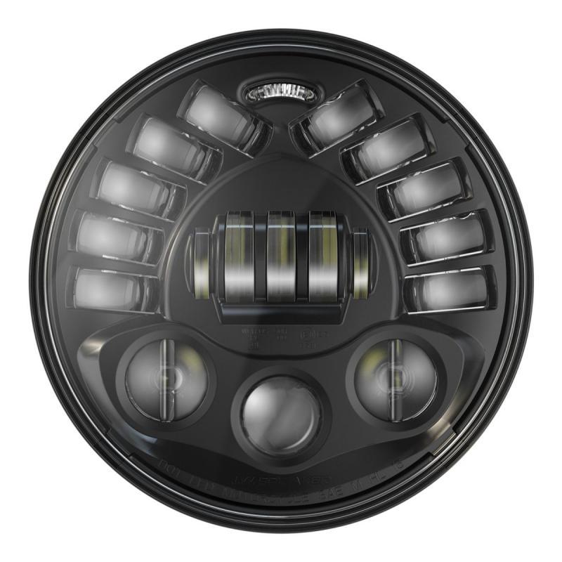 Phare JW Speaker modèle 8791 adaptatif Ø18 cm Headlights 1600 lumens avec patte de fixation noir