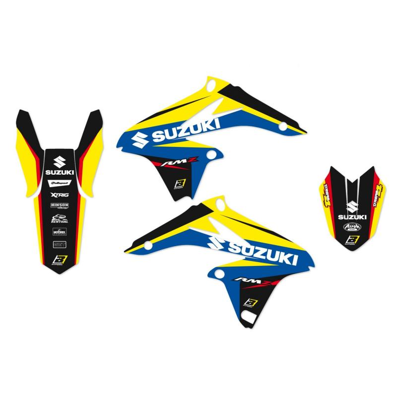 Kit déco + housse de selle Blackbird Dream Graphic 4 Yamaha 250 WR-F 07-14 bleu/noir