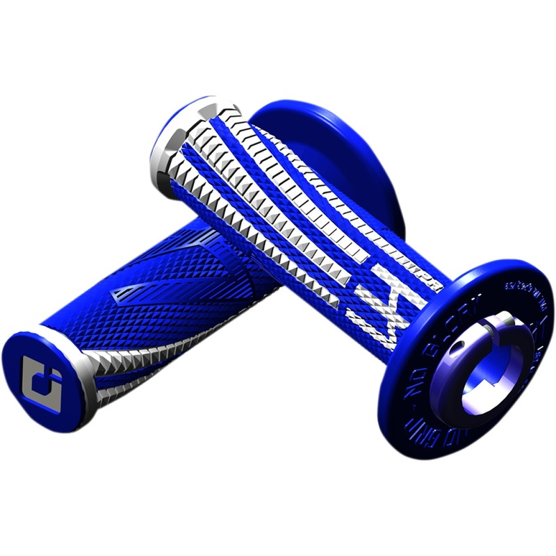 Revêtements de poignées ODI Emig Pro V2 Lock-On bleus/blancs