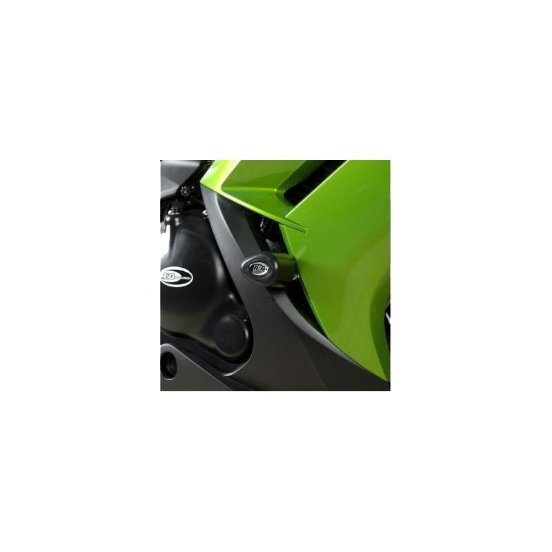 Tampons de protection R&G Racing Aero noir Kawasaki ER-6 F 12-16