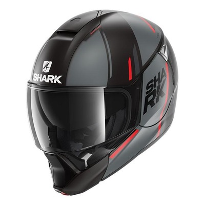 Casque modulable Shark Evojet Vyda Mat anthracite/rouge