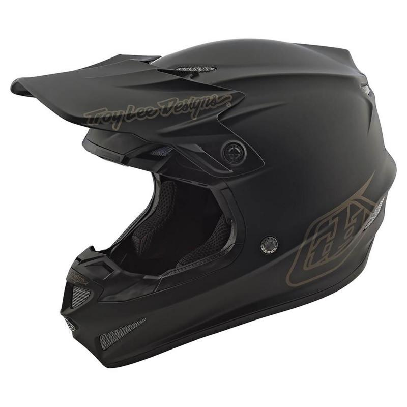 Casque cross enfant Troy Lee Designs SE4 Polyacrylite Midnight Mips noir