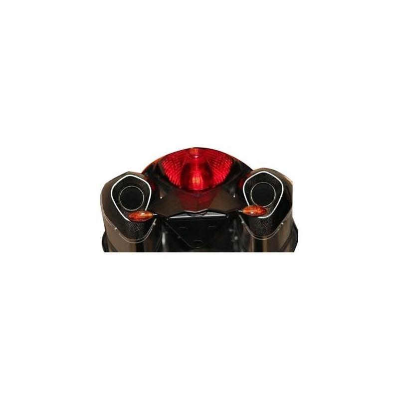 Support de plaque d'immatriculation R&G Racing noir Kawasaki ZZR 1400 12-18