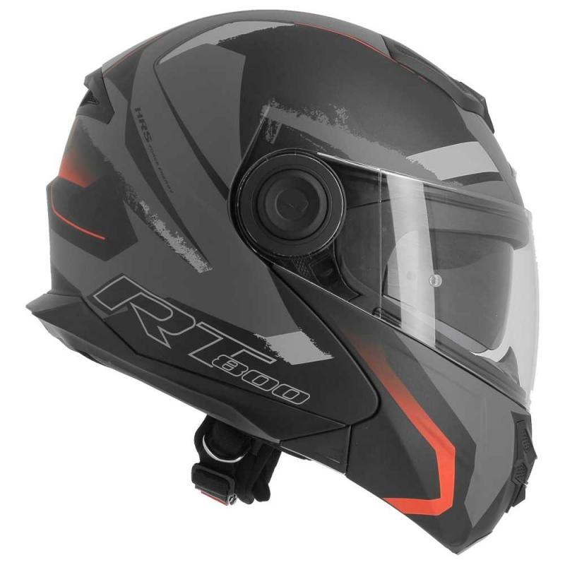 Casque modulable Astone RT800 exclusive ENERGY mat noir/rouge - 5