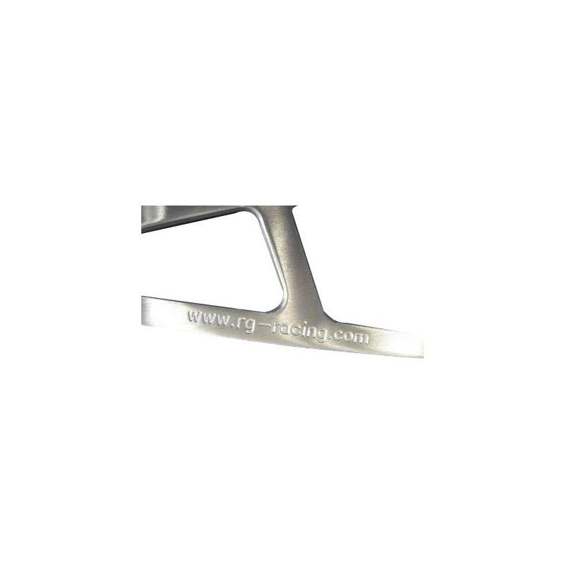 Patte de fixation de silencieux R&G Racing aluminium Aprilia RSV 1000 98-03 la paire