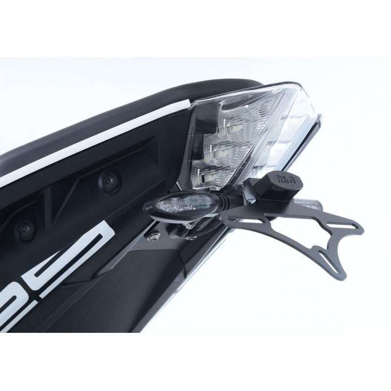 Support de plaque d'immatriculation R&G Racing noir KTM Duke 390 17-18 - 3