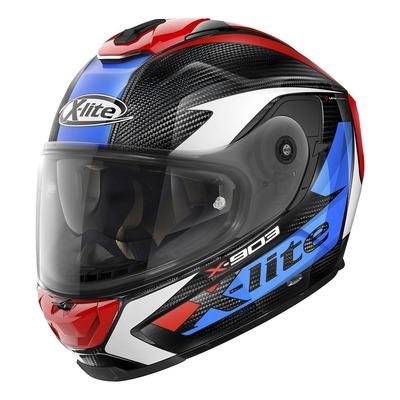 Casque intégral X-Lite X903 Ultra Carbon Nobiles N-Com bleu/rouge/carbone