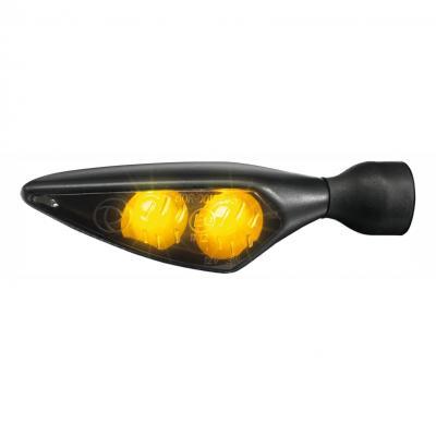 Clignotant LED Kellermann Micro Rhombus noir avec verre fumé AV D / AR G