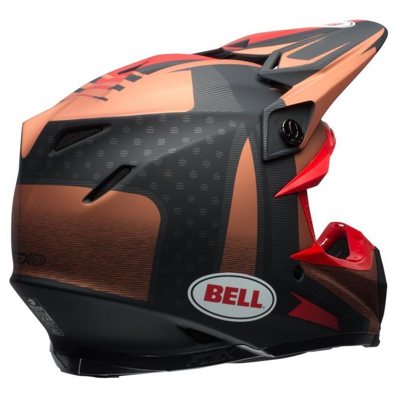 Casque cross Bell Moto 9 Flex Matte copper/black vice - 7