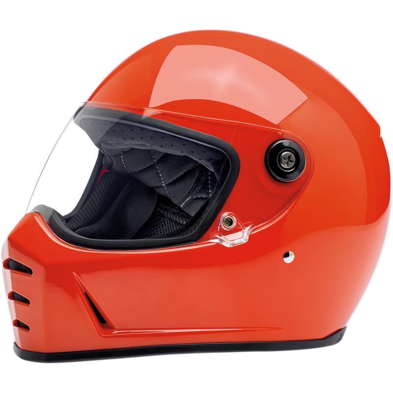 Casque intégral Biltwell Lane Splitter brillant Hazard orange