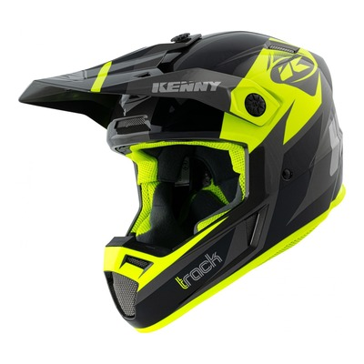 Casque cross Kenny Track Graphic noir/jaune fluo