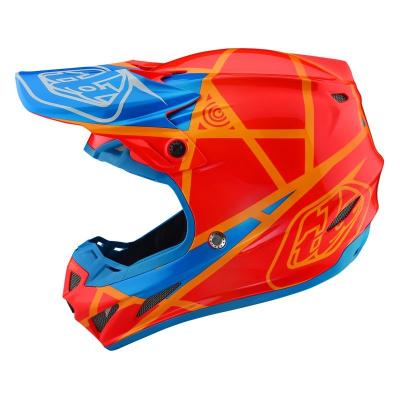 Casque cross Troy Lee Designs SE4 Composite Metric honey/orange