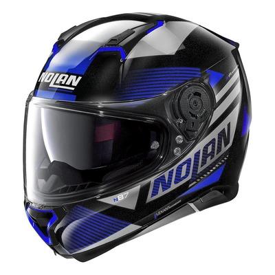 Casque intégral Nolan N87 Jolt N-Com Métal noir/bleu