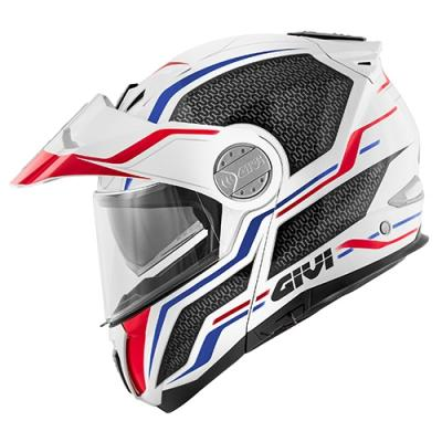 Casque modulable Givi X.33 Canyon Layers blanc/rouge/bleu