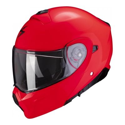 Casque modulable Scorpion EXO-930 Solid rouge fluo