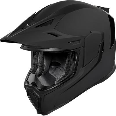 Casque Trail Icon Airflite Moto Rubatone noir