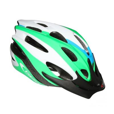 Casque vélo enfant Junior GES Apache vert/bleu/blanc (taille 47-53)