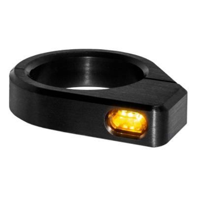 Clignotants de fourche Heinz Bikes Micro LED noirs Ø 47 – 49 mm
