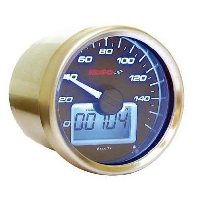 Compteur de vitesse Koso Ø55 mm fond noir éclairage bleu 160 km/h